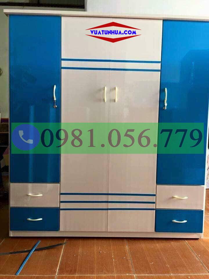 Tủ nhựa đựng quần áo 4 cánh, 3 buồng VTL04_05