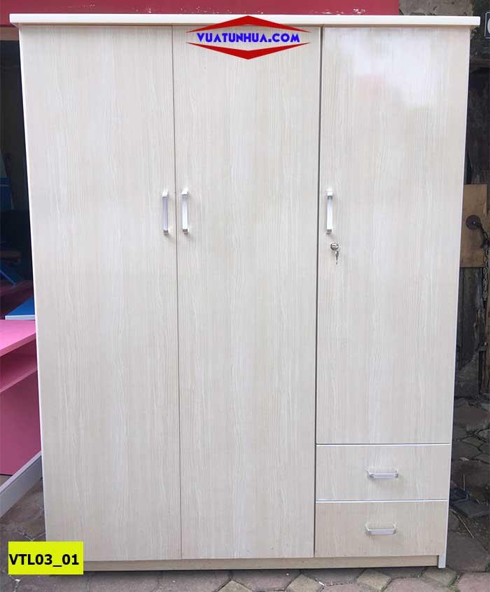 Tủ nhựa đựng quần áo 3 cánh 2 buồng VTL03_01