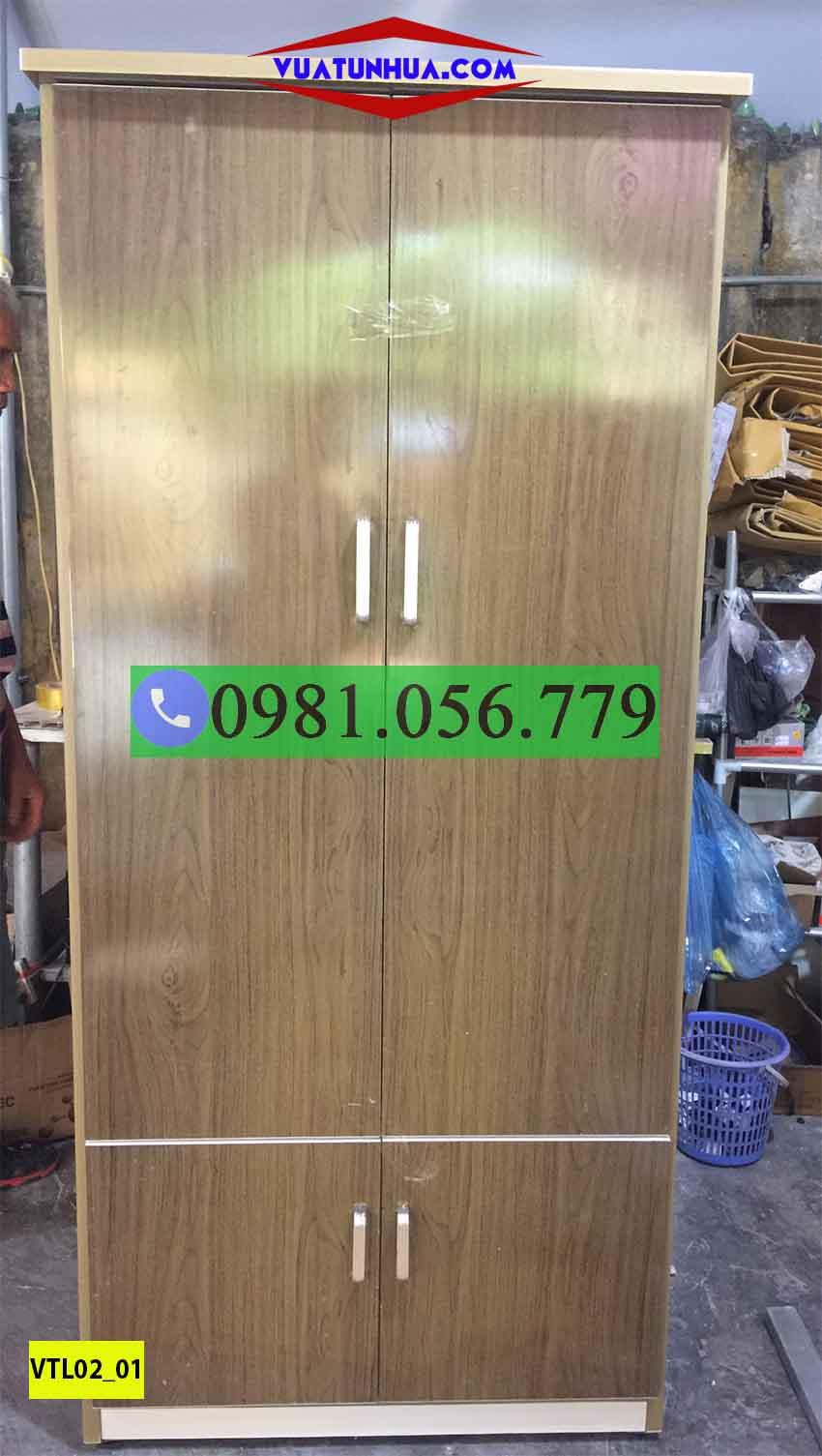 tủ nhựa đựng quần áo giá rẻ VTL02_01