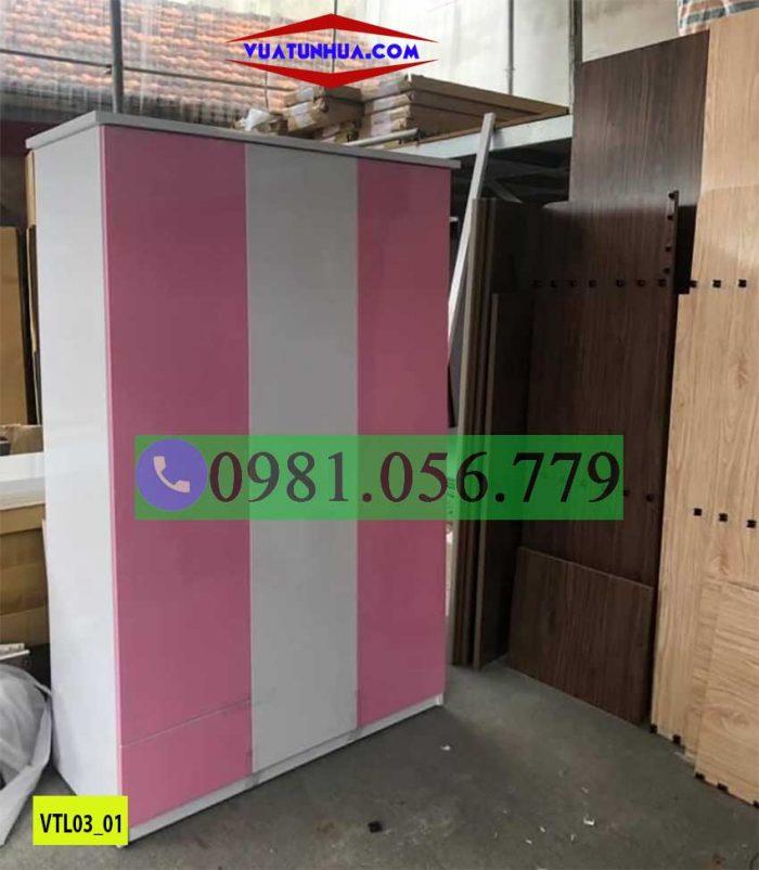 tủ nhựa quần áo 3 cánh VTL03_01
