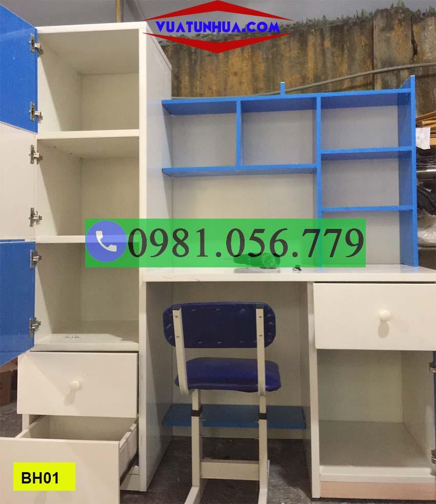 bàn học nhựa kết hợp tủ quần áo cho trẻ em BH01