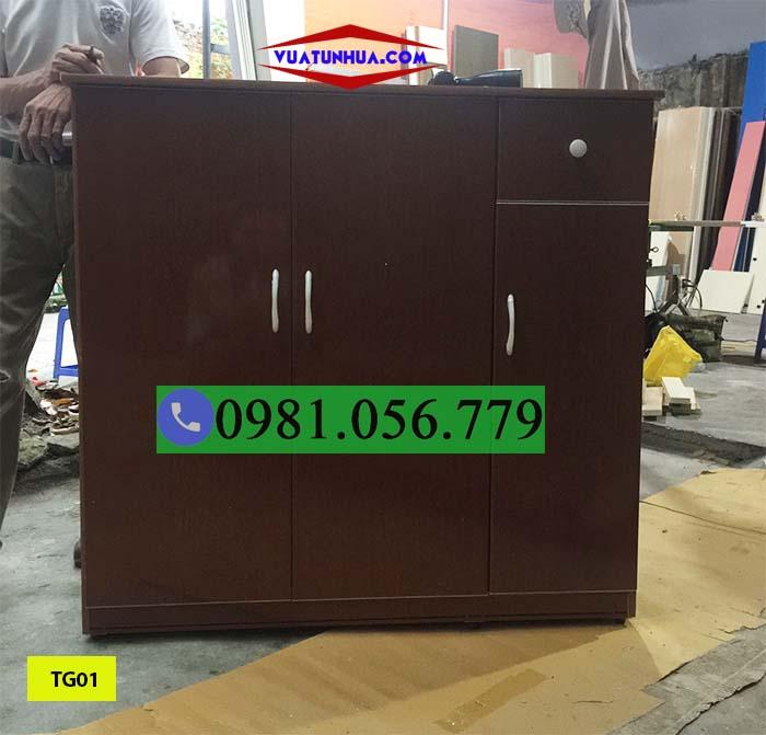 TG01 - Mẫu tủ giày 3 cánh làm từ nhựa Đài Loan