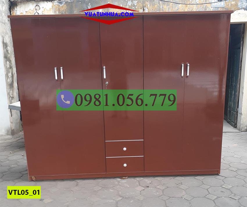 Tủ nhựa Đài Loan 5 cánh siêu hiện đại VTL05_01