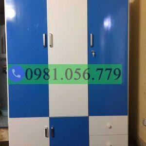 Tủ nhựa Đài Loan 3 cánh 2 hộc 2 ngăn kéo VTL03_03