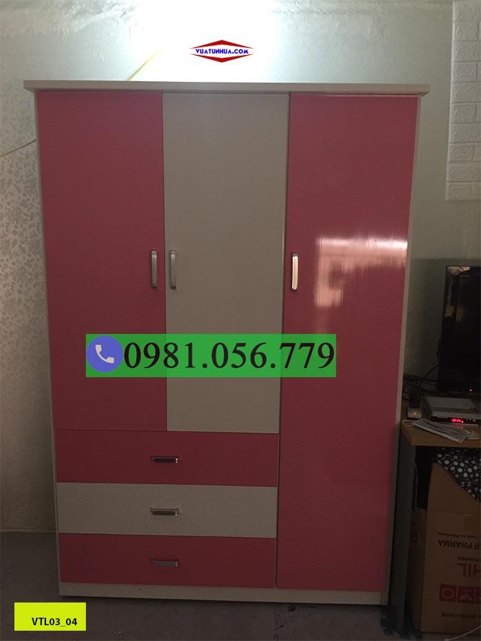 Tủ nhựa Đài Loan 3 cánh phối màu VTL03_04