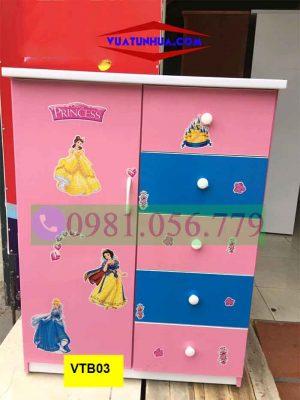 Tủ nhựa đựng quần áo cho bé gái VTB03