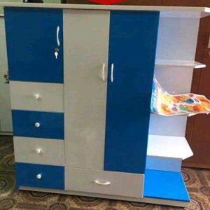 Tủ nhựa 2 cánh nhiều ngăn kéo nhiều hộc VTL02_03