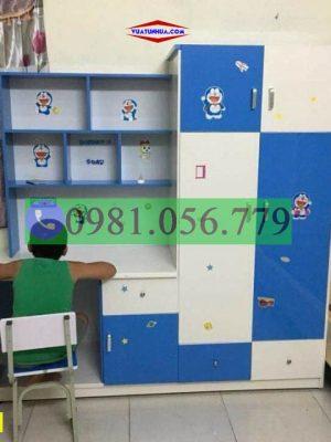 Bàn học nhựa kết hợp tủ quần áo cho bé trai BH04