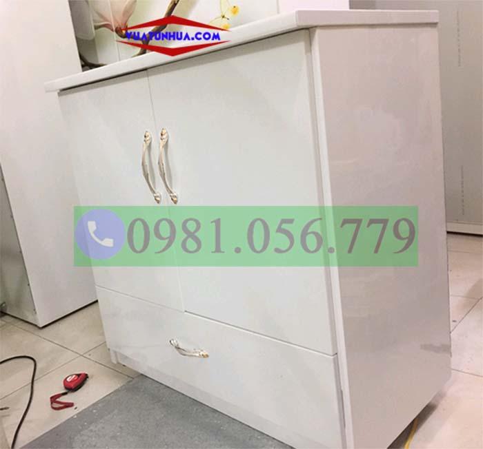 Tủ nhựa 2 cánh 1 ngăn kéo mini VTB02_02