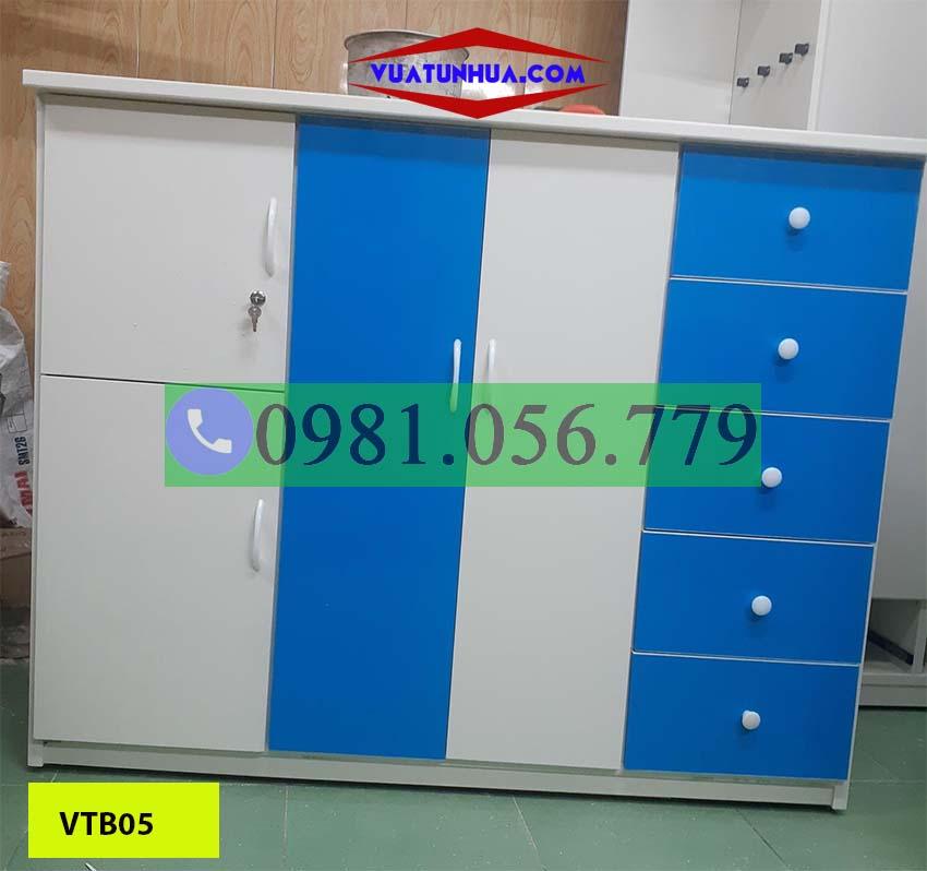Tủ nhựa Đài Loan 3 cánh 2 buồng cho bé VTB05