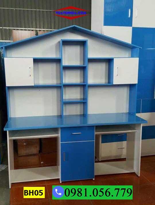 Bàn học đôi cho bé bằng nhựa hình ngôi nhà BH05