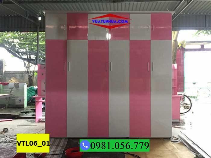 Tủ nhựa quần áo 6 cánh 3 buồng cỡ lớn VTL06_01