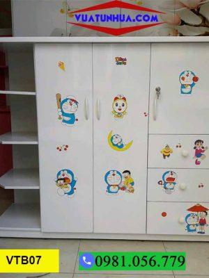 Tủ nhựa quần áo cho bé 2 cánh 5 ngăn kéo 4 hộc VTB07