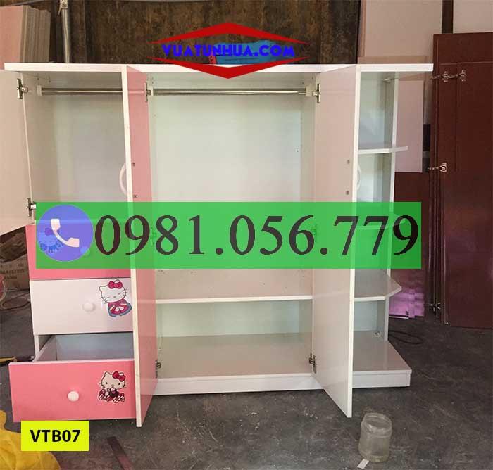 tủ nhựa đựng quần áo trẻ em VTB07