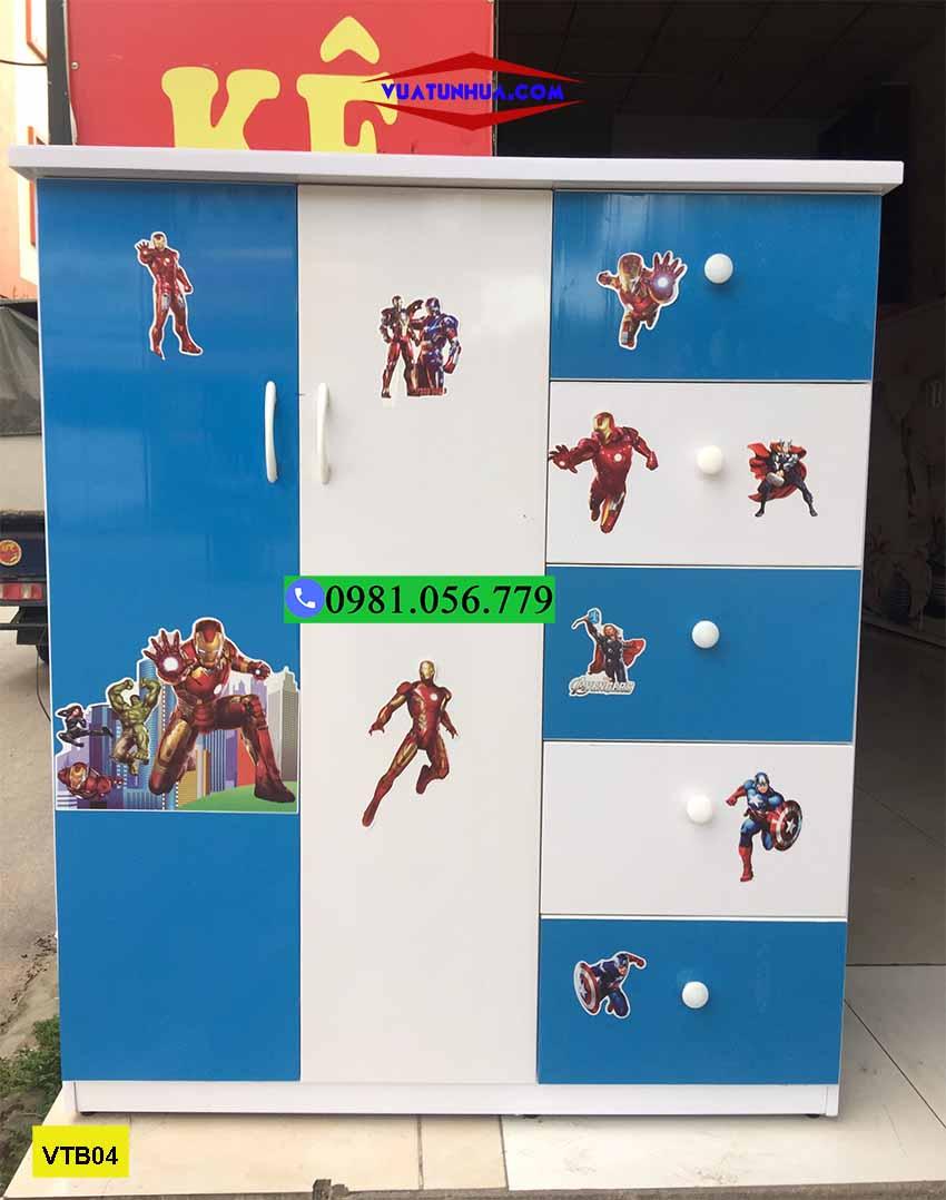 Tủ nhựa đựng quần áo trẻ em 2 cánh 5 ngăn VTB04
