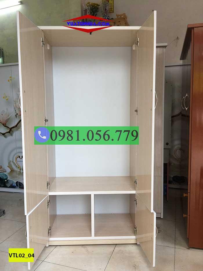 tủ nhựa 2 csanh VTL02_04