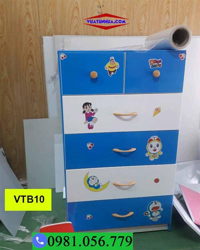 Tủ nhựa đựng quần áo cho bé 5 tầng xếp chồng VTB10