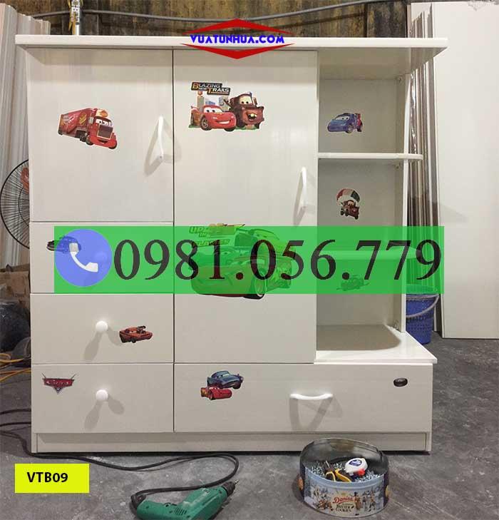 tủ nhựa quần áo cho trẻ em VTB09