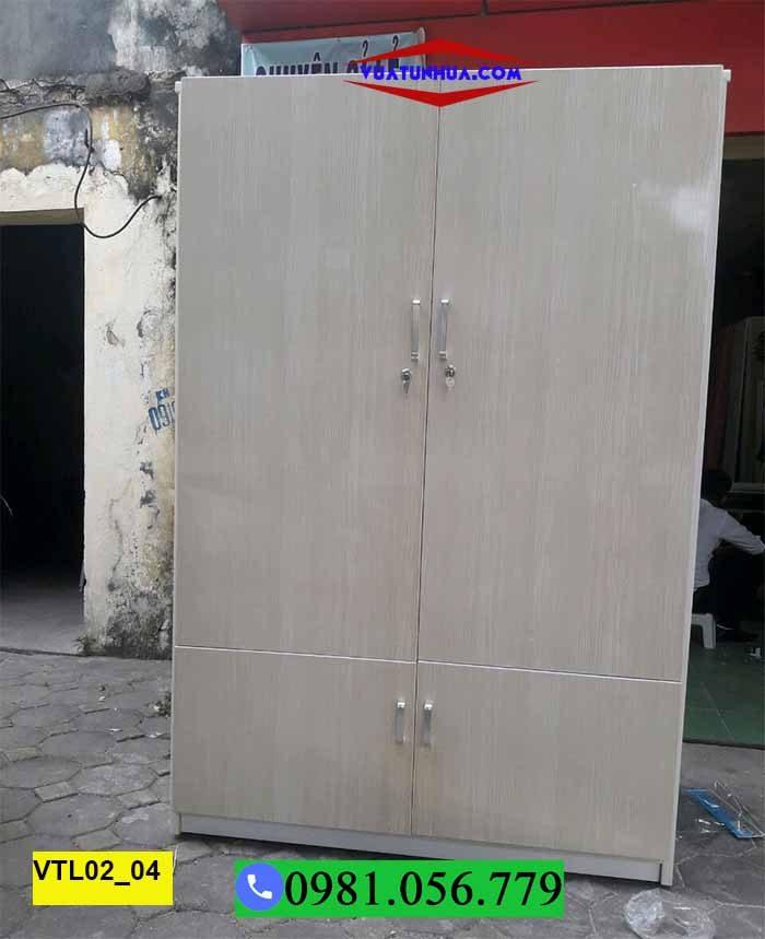 Tủ nhựa đựng quần áo 2 cánh nhiều ngăn xếp chồng VTL02_04