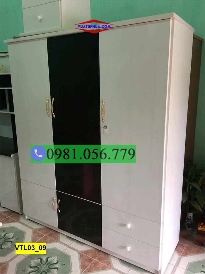 Tủ nhựa 3 cánh 2 ngăn kéo VTL03_09