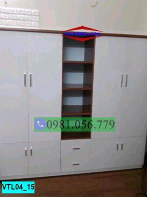 Tủ nhựa đựng quần áo 4 cánh đối xứng VTL04_15