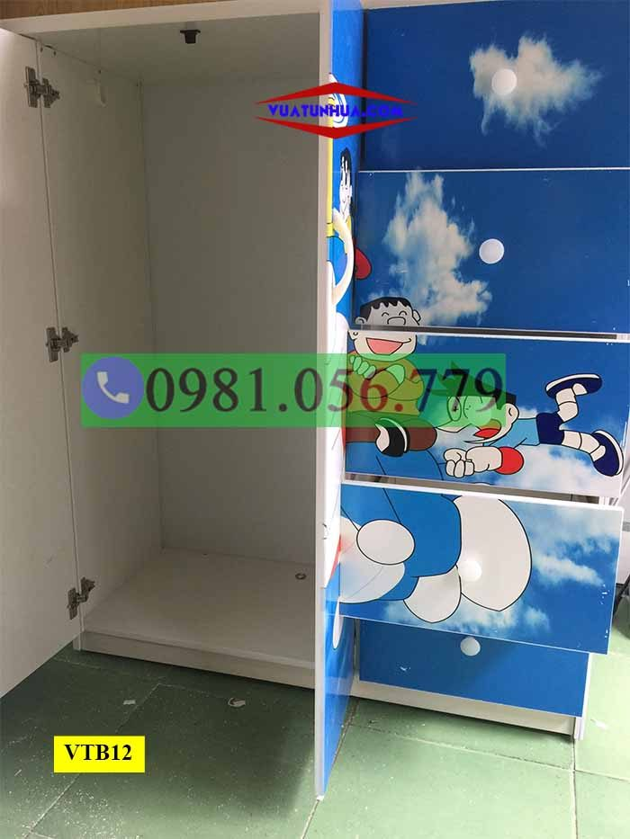 Tủ nhựa đựng quần áo 3D 2 cánh 5 tầng VTB12