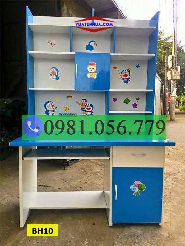 Bàn học nhựa Đài Loan nhiều tầng đựng sách BH10
