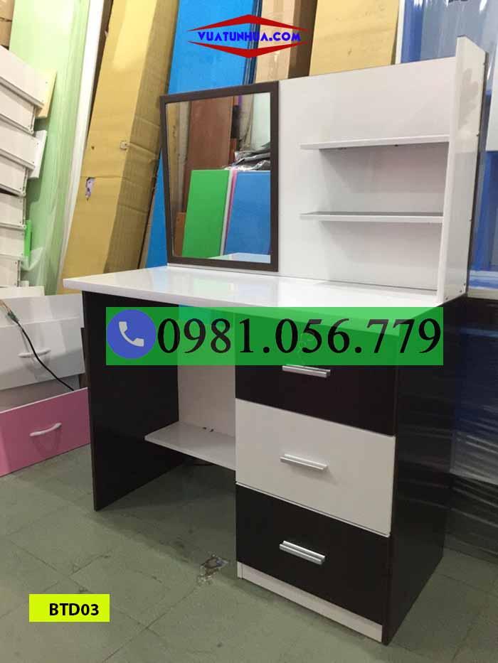 Bàn trang điểm nhựa Đài Loan phối màu BTD03