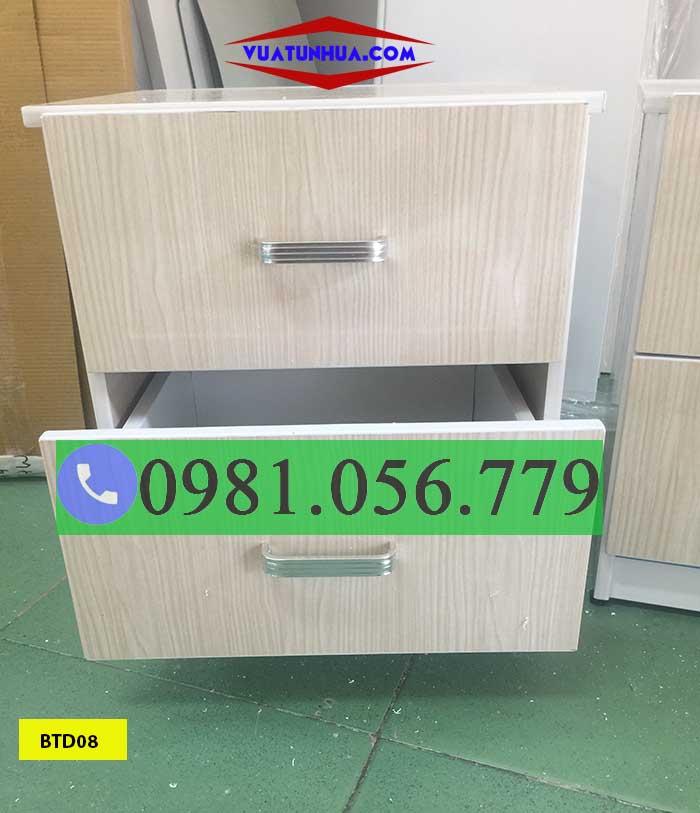 Tab đầu giường bằng nhựa Đài Loan 2 tầng BTD08