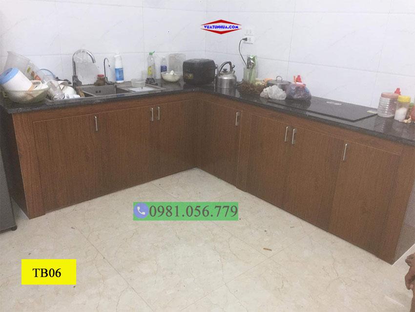 Tủ bếp nhựa 1 tầng góc tường TB06